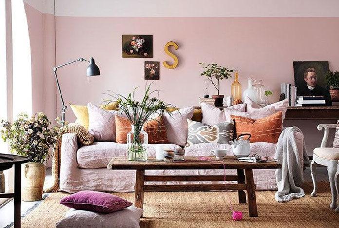 Róż w mieszkaniu - w jakich pomieszczeniach, w jakich odcieniach