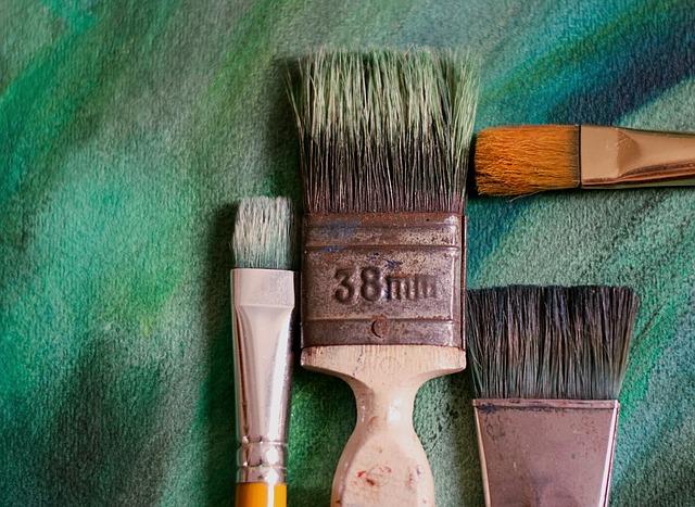 pędzle, malowanie, lakierowanie, bejcowanie