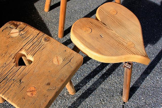 drewniane meble, malowanie