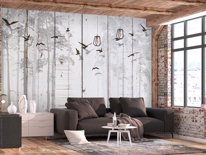 Zwierzyniec na salonach, czyli nowoczesne tapety z motywem fauny
