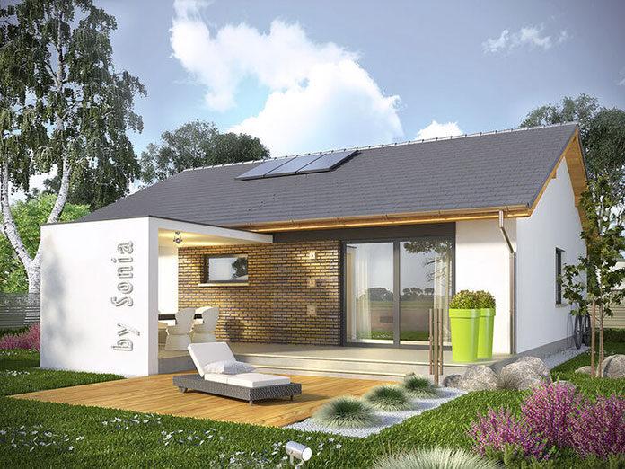 Tarasy przy projektach małych domów parterowych
